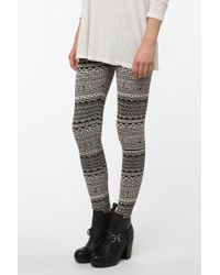 Urban Outfitters - Gray Bdg Abstract Leggings - Lyst