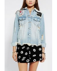 Urban Outfitters - Blue Unif X Uo Fornever Denim Trucker Jacket - Lyst