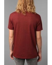 Urban Outfitters | Brown Europe Map Pocket Tee for Men | Lyst