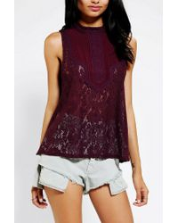 Urban Outfitters | Purple Kimchi Blue Victorian Lace Tank Top | Lyst