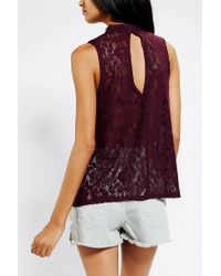 Urban Outfitters - Purple Kimchi Blue Victorian Lace Tank Top - Lyst
