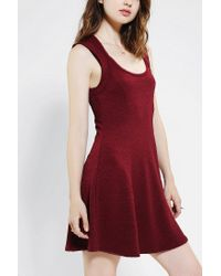 Urban Outfitters - Silence Noise Textured Openback Skater Dress - Lyst