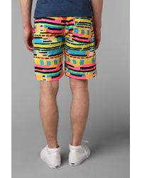 Urban Outfitters - Multicolor Tropicalia Printed Elastic Waist Short for Men - Lyst