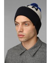 Urban Outfitters - Blue Brixton Miller Pom Beanie for Men - Lyst