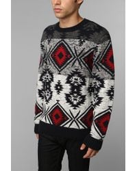 Urban Outfitters - Blue Commerce Fair Isle Sweater for Men - Lyst