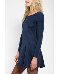 Urban Outfitters | Blue Lucca Couture Slinky Knit Openback Skater Dress | Lyst