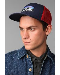 Urban Outfitters - Blue Patagonia Logo Trucker Hat for Men - Lyst