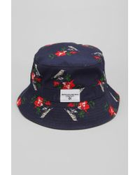 fdbcbc8006e Lyst - Urban Outfitters Profound Aesthetic Birds Bucket Hat in Blue ...