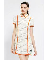 Urban Outfitters | Orange Opening Ceremony Piped Tulip Dress | Lyst
