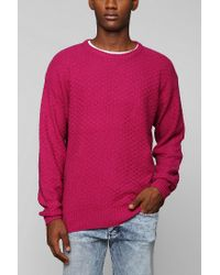 Urban Outfitters - Pink Your Neighbors Tuck Stitch Sweater for Men - Lyst