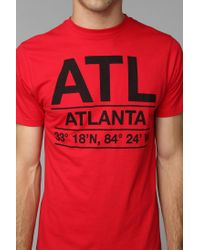 Urban Outfitters | Red Deter Atlanta Coordinates Tee for Men | Lyst