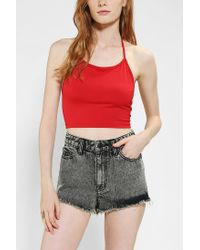 Urban Outfitters - Red Motel Fonda Halter Cropped Top - Lyst