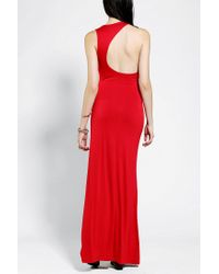 Urban Outfitters | Red Sparkle Fade Asymmetrical Back Maxi Dress | Lyst