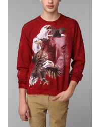 Urban Outfitters | Red The Mountain Bald Eagle Pullover Sweatshirt for Men | Lyst