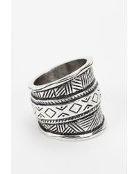 Urban Outfitters | Metallic Geo Etched Ring | Lyst