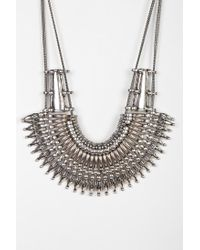 Urban Outfitters - Metallic Mercer Bib Necklace - Lyst