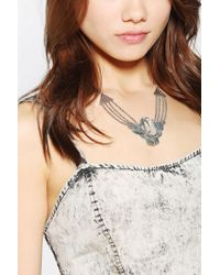 Urban Outfitters - Metallic Spell The Gypsy Collective Dark Side Of The Moon Necklace - Lyst