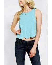 Urban Outfitters | Blue Pins and Needles Scalloped Swing Tank Top | Lyst