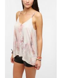 Urban Outfitters - Natural Silence Noise Zip Cami - Lyst