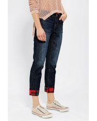 Urban Outfitters | Blue Bdg Boyfriend Jean Plaid Pocket | Lyst