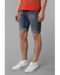 Urban Outfitters - Blue Levis 511 Broken Ice Cutoff Shorts for Men - Lyst
