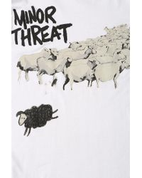 Urban Outfitters - White Minor Threat Sheep Tee for Men - Lyst