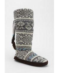 Urban Outfitters | White Muk Luks Winona Slippersock Boot | Lyst