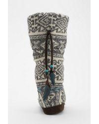 Urban Outfitters   White Muk Luks Winona Slippersock Boot   Lyst