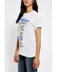 Urban Outfitters - White Stussy International Cities Oversized Tee - Lyst