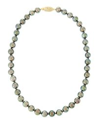 Assael - Gray Tahitian Pearl Diamondclasp Necklace 16 - Lyst