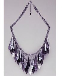 Bebe | Multicolor Ombre Lucite Spike Necklace | Lyst