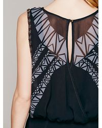 Free People | Black Aztec Print Dress | Lyst
