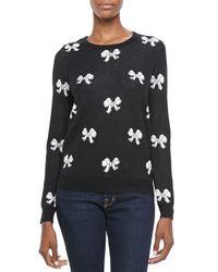 Joie | Black Valera Bowpattern Sweater | Lyst