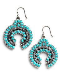 Lucky Brand - Blue Squash Blossom Drop Earrings - Lyst