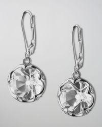 Monica Rich Kosann   Metallic Bezel-Set Rock Crystal Drop Earrings   Lyst