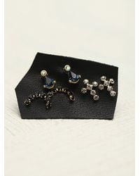 N/a | Blue Tiny Cluster Set Of 6 Studs | Lyst