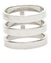 Repossi - White Three Layer Berbere Ring - Lyst