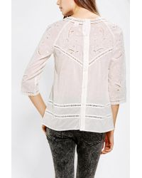 Urban Outfitters - White Hazel Embroidered Eyelet Tunic - Lyst