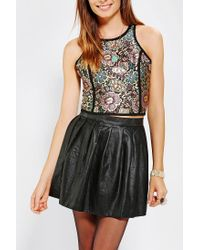 Urban Outfitters | Metallic Coincidence Chance Cropped Jacquard Tank Top | Lyst