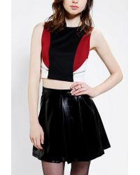 Urban Outfitters | White Sparkle Fade Colorblock Cropped Top | Lyst
