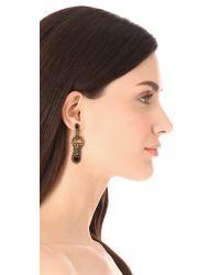 Aerin Erickson Beamon - Red Gem Leaf Earrings - Lyst