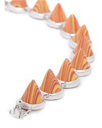 Eddie Borgo - Orange Marbled Gemstone Cone Bracelet - Lyst