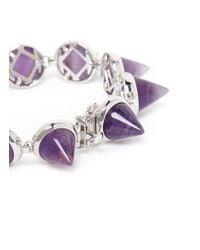 Eddie Borgo - Purple Amethyst Cone Bracelet - Lyst