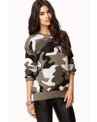 Forever 21 - Green Shaggy Open-front Cardigan - Lyst