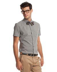 Mr Turk - Gray Slim Jim Shirt for Men - Lyst