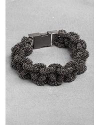 & Other Stories | Metallic Narrow Braided Bracelet | Lyst