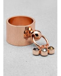 & Other Stories | Metallic Chunky Stud Ring | Lyst