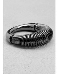 & Other Stories - Metallic Spiral Ring - Lyst