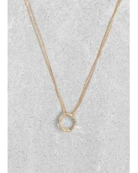 & Other Stories - Metallic Circle Pendant Necklace - Lyst