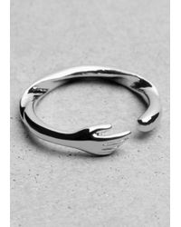 & Other Stories Metallic Hand Ring